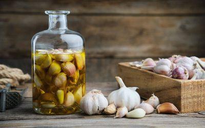 Garlic elixir for sore throats