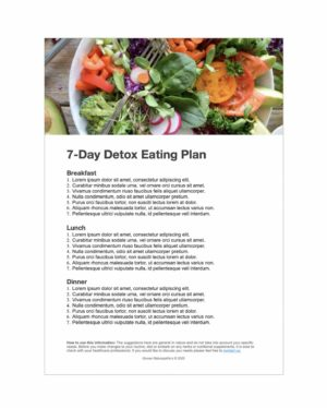 7-day detox eating plan