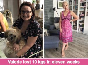Valerie lost 10 kgs in eleven weeks